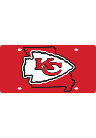 Kansas City Chiefs Team Color State Shape Car Accessory License Plate