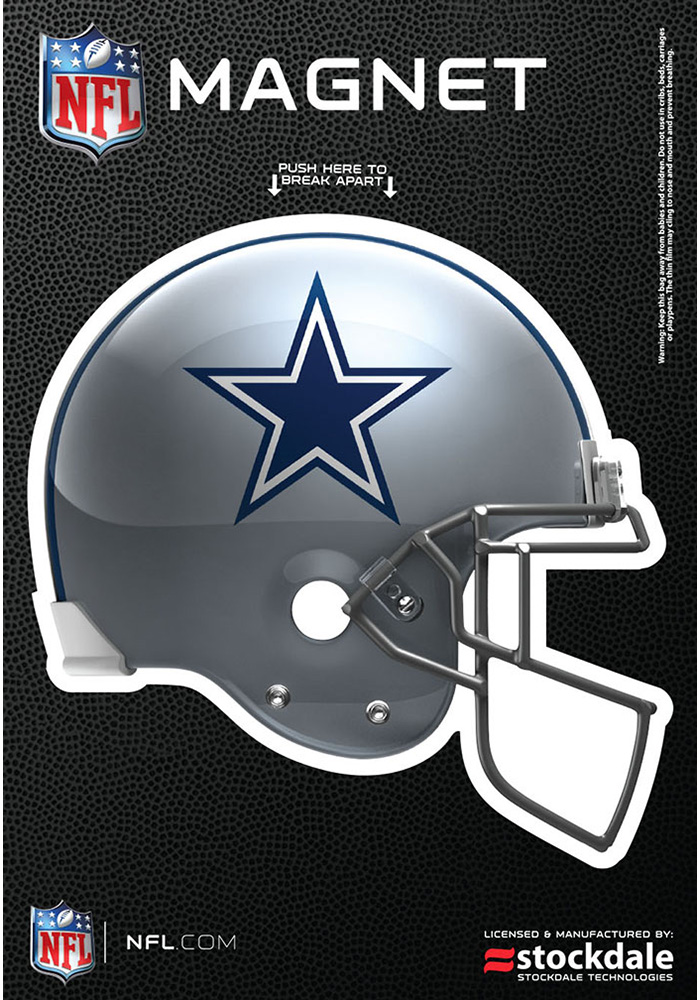 Dallas Cowboys 3x5 3D Helmet Car Magnet - Navy Blue - Image 1