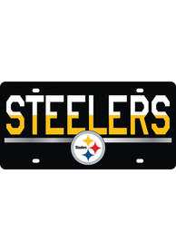 Pittsburgh Steelers Acrylic DuoTone Logo Car Accessory License Plate