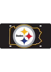 Pittsburgh Steelers Team Color State Shape Car Accessory License Plate