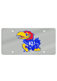 Kansas Jayhawks Glitter Logo Car Accessory License Plate