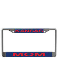 Kansas Jayhawks Mom Chrome License Frame