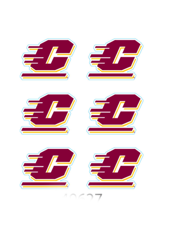 Central Michigan Chippewas 6 Pack Tattoo - Image 1