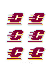 Central Michigan Chippewas 6 Pack Tattoo