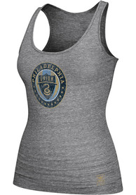 Adidas Philadelphia Union Womens Grey Supersize Fan Tri-Blend Tank Top