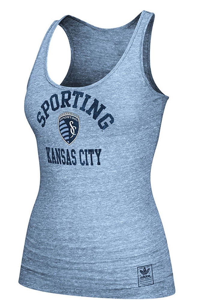 Adidas Sporting Kansas City Womens Light Blue Her Homecoming Tri-Blend Tank Top - Image 1