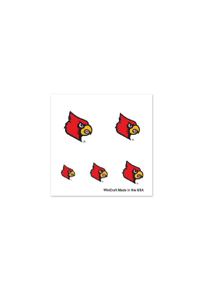 Louisville Cardinals Fingernail Tattoo - Image 1