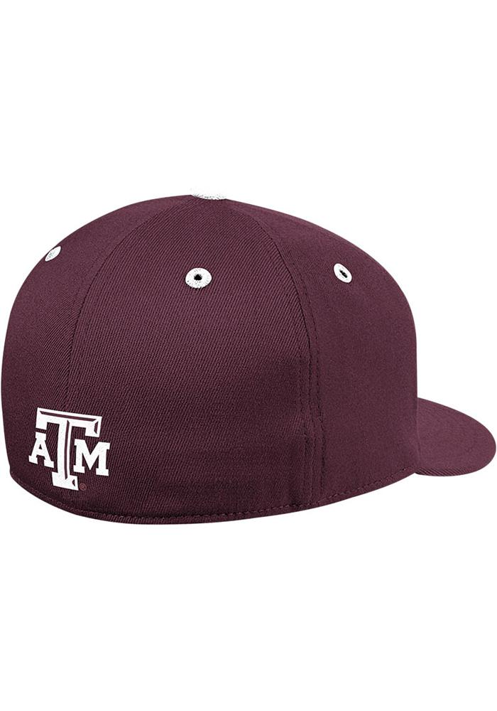 Adidas Texas A&M Aggies Mens Maroon On Field Baseball Fitted Hat - Image 3