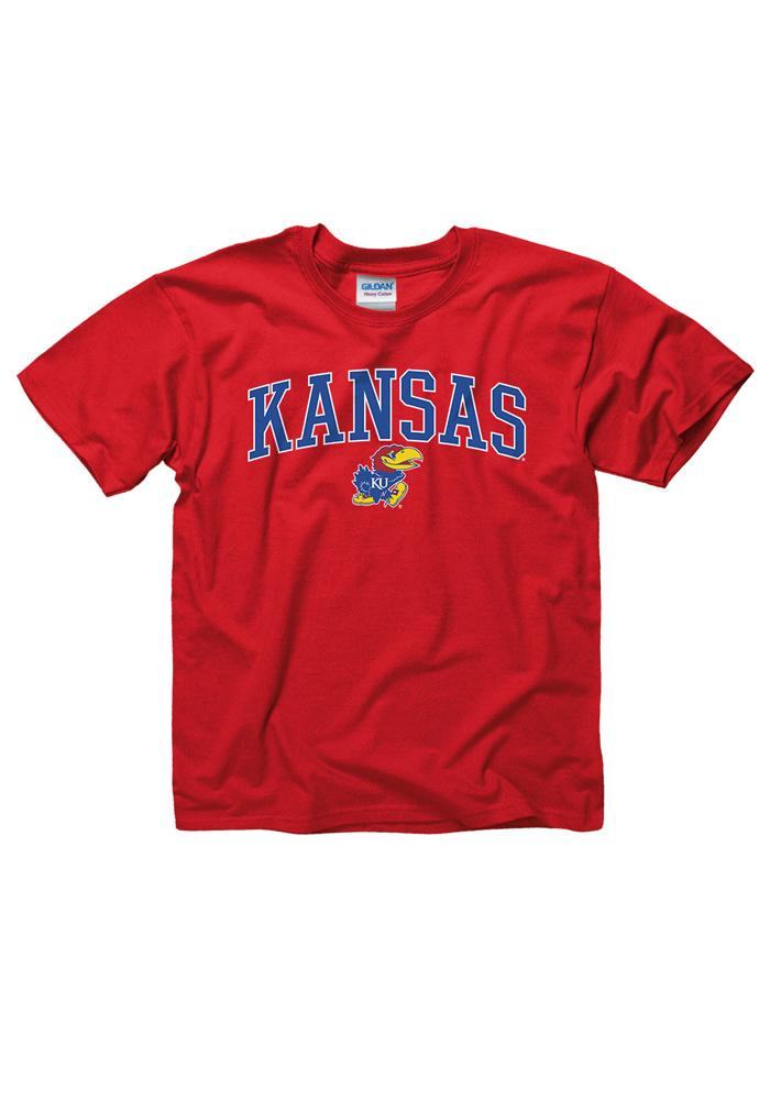 Kansas Jayhawks Youth Red Midsize T-Shirt