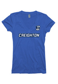 Creighton Bluejays Juniors Blue Straightaway V-Neck