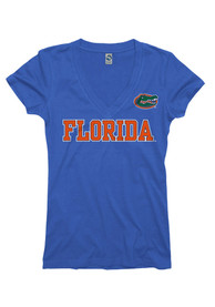 Florida Gators Juniors Blue Straightaway V-Neck