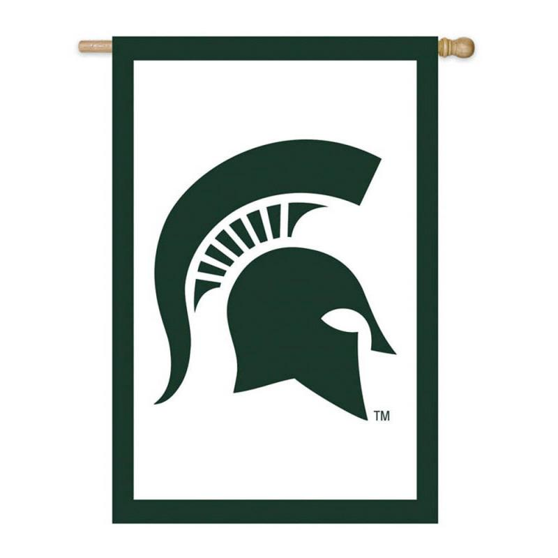 Michigan State Spartans 28x44 Applique Sleeve Banner - Image 1
