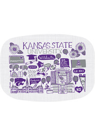K-State Wildcats Julia Gash 14 inch Melamine Serving Tray