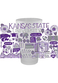 K-State Wildcats Julia Gash 16 oz Frosted Pint Glass
