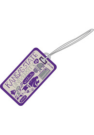 K-State Wildcats Julia Gash Embroidered Luggage Tag - Purple