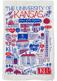 Kansas Jayhawks Julia Gash Natural Towel