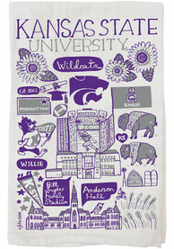 K-State Wildcats Julia Gash Natural Towel