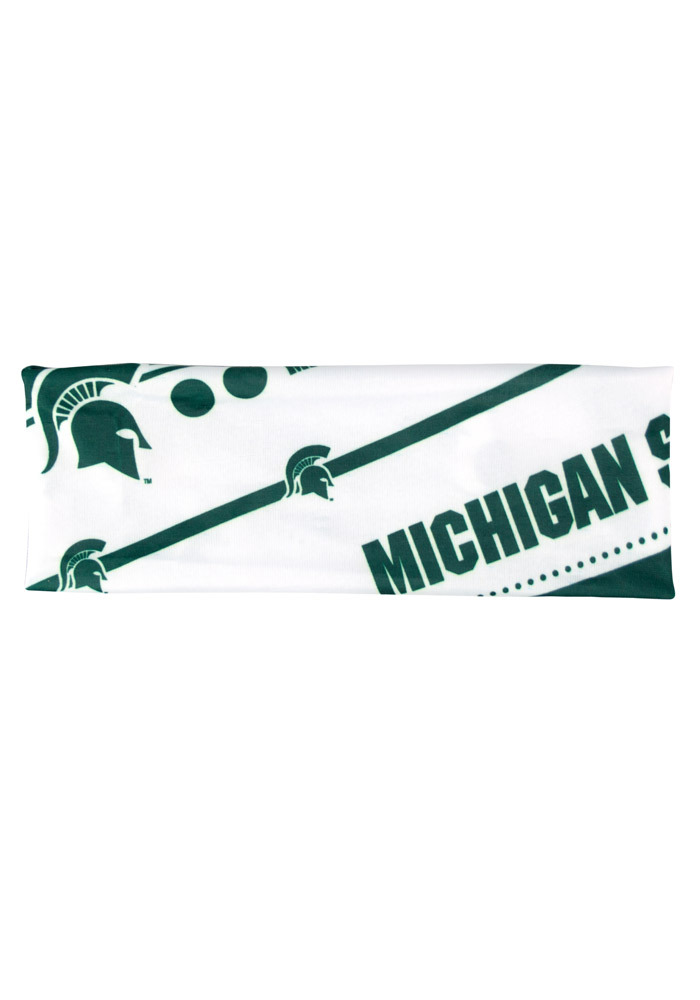 Michigan State Spartans Stretch Patterned Womens Headband - Image 1