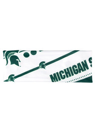 Michigan State Spartans Womens Stretch Patterned Headband - Green