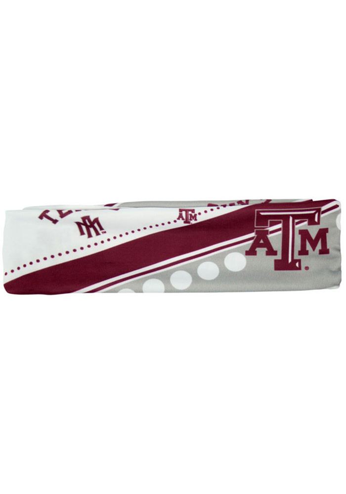 Texas A&M Aggies Stretch Patterned Womens Headband - Image 1
