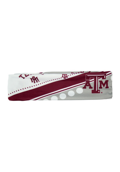 Texas A&M Aggies Stretch Patterned Womens Headband - Image 2