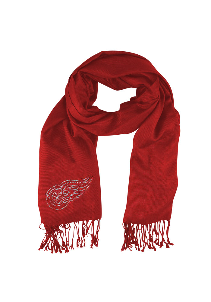 Detroit Red Wings Womens Jewel Logo Pashi Scarf - Red