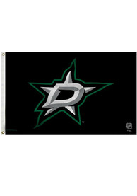 Dallas Stars 3x5 Grommet Black Silk Screen Grommet Flag