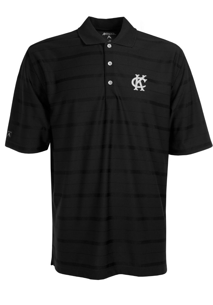 Antigua Kansas City Monarchs Mens Black Tone Short Sleeve Polo - Image 1