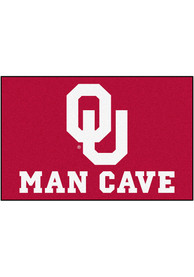 Oklahoma Sooners 19x30 Man Cave Starter Interior Rug