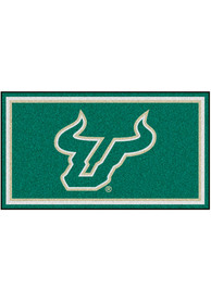 South Florida Bulls 3x5 Plush Interior Rug