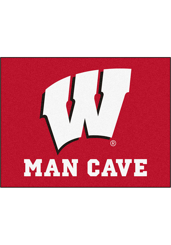 Wisconsin Badgers 34x42 Man Cave All Star Interior Rug - Image 1