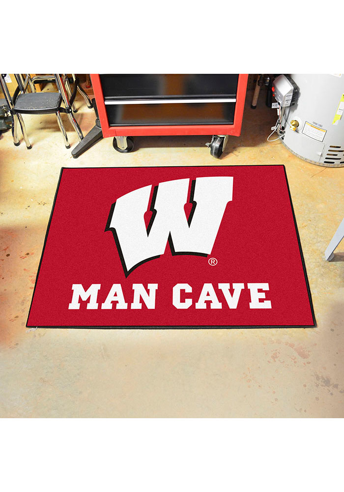 Wisconsin Badgers 34x42 Man Cave All Star Interior Rug - Image 2