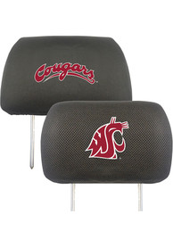 Sports Licensing Solutions Washington State Cougars 10x13 Auto Head Rest Cover - Black