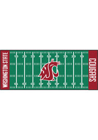 Washington State Cougars 30x72 Football Field Runner Interior Rug