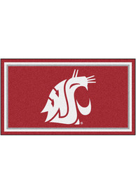 Washington State Cougars 3x5 Plush Interior Rug