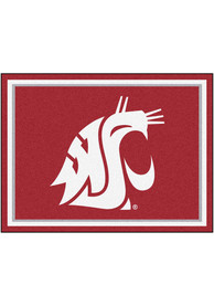 Washington State Cougars 8x10 Plush Interior Rug