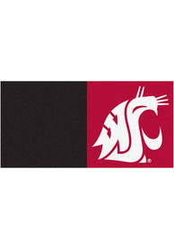 Washington State Cougars 18x18 Team Tiles Interior Rug