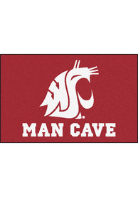 Washington State Cougars 19x30 Man Cave Starter Interior Rug