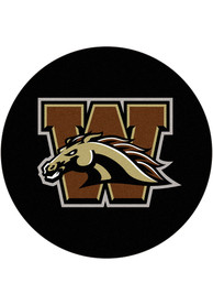 Western Michigan Broncos 27 Hockey Puck Interior Rug
