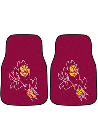 Sports Licensing Solutions Arizona State Sun Devils 2-Piece Carpet Car Mat - Maroon