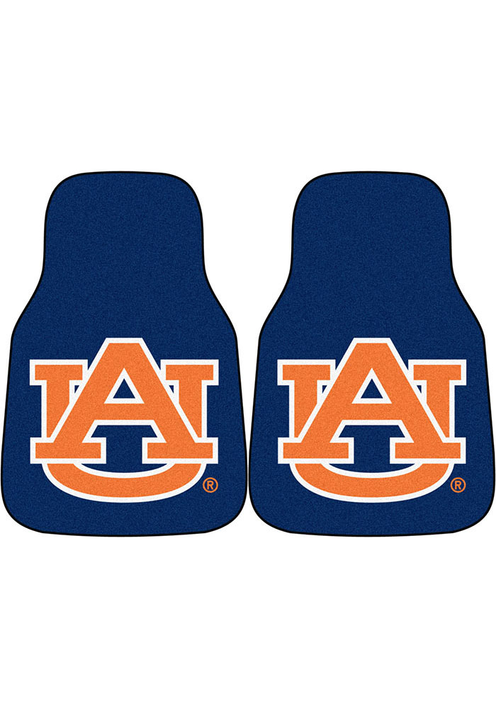 Auburn Tigers 2-Piece Carpet Car Mat - Image 1