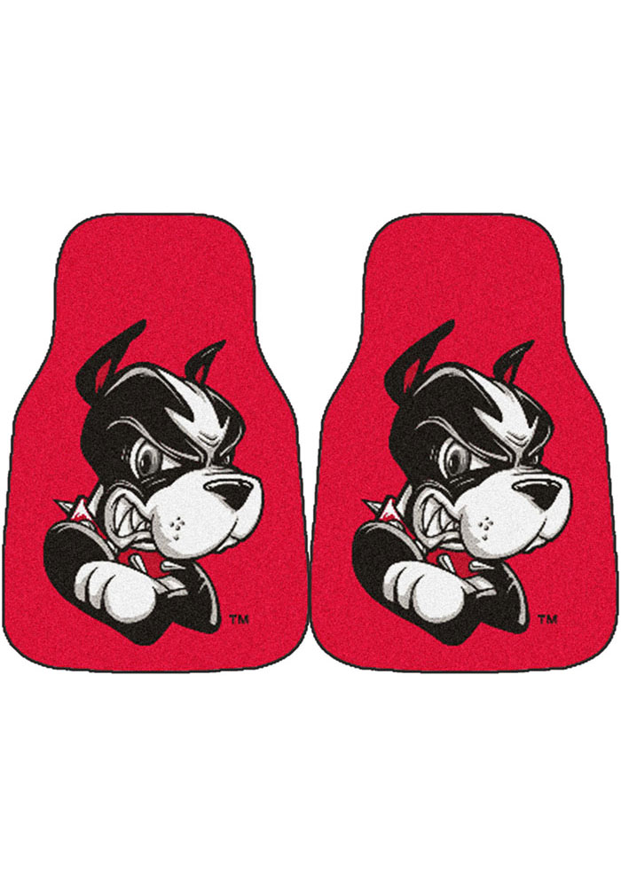 Sports Licensing Solutions Boston Terriers 2-Piece Carpet Car Mat - Red - Image 1