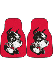 Sports Licensing Solutions Boston Terriers 2-Piece Carpet Car Mat - Red
