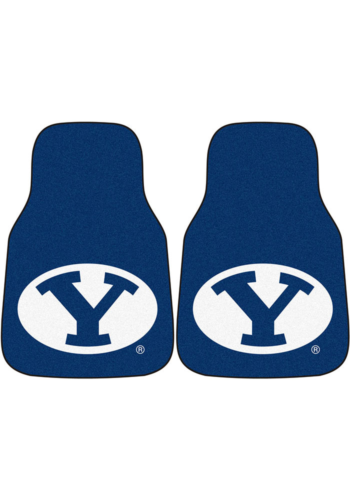 BYU Cougars 2-Piece Carpet Car Mat - Image 1