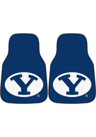 Sports Licensing Solutions BYU Cougars 2-Piece Carpet Car Mat - Black