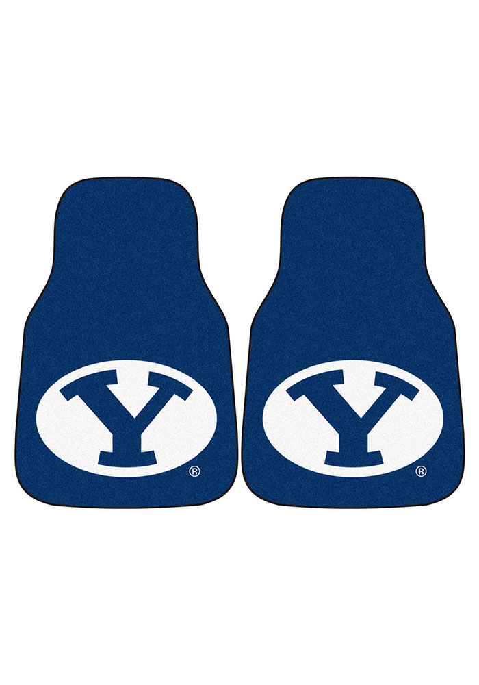 BYU Cougars 2-Piece Carpet Car Mat - Image 2
