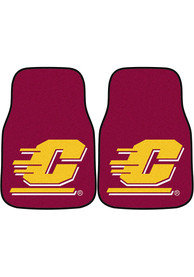 Sports Licensing Solutions Central Michigan Chippewas 2-Piece Carpet Car Mat - Maroon