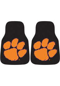 Sports Licensing Solutions Clemson Tigers 2-Piece Carpet Car Mat - Black