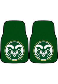 Sports Licensing Solutions Colorado State Rams 2-Piece Carpet Car Mat - Green