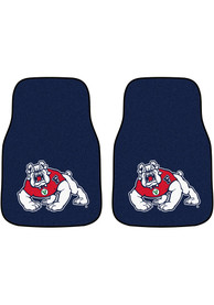 Sports Licensing Solutions Fresno State Bulldogs 2-Piece Carpet Car Mat - Black